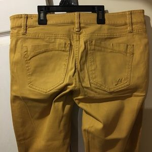 Express Jeans Ankle yellow Jeggings